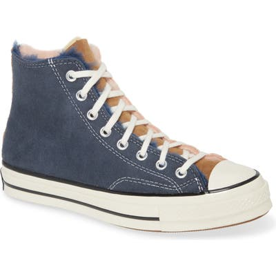 Converse Chuck 70 Genuine Shearling Lined Sneaker, Blue