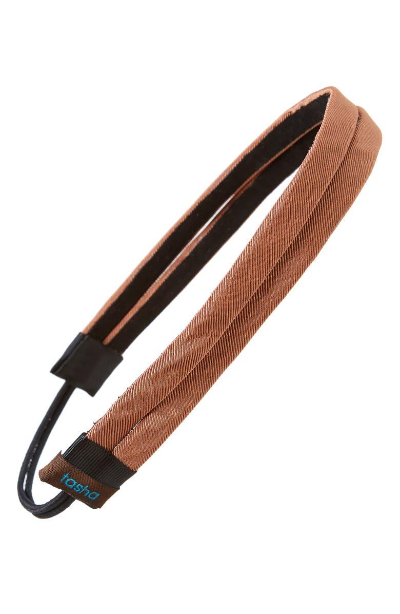 TASHA Double Band Head Wrap, Main, color, CAMEL