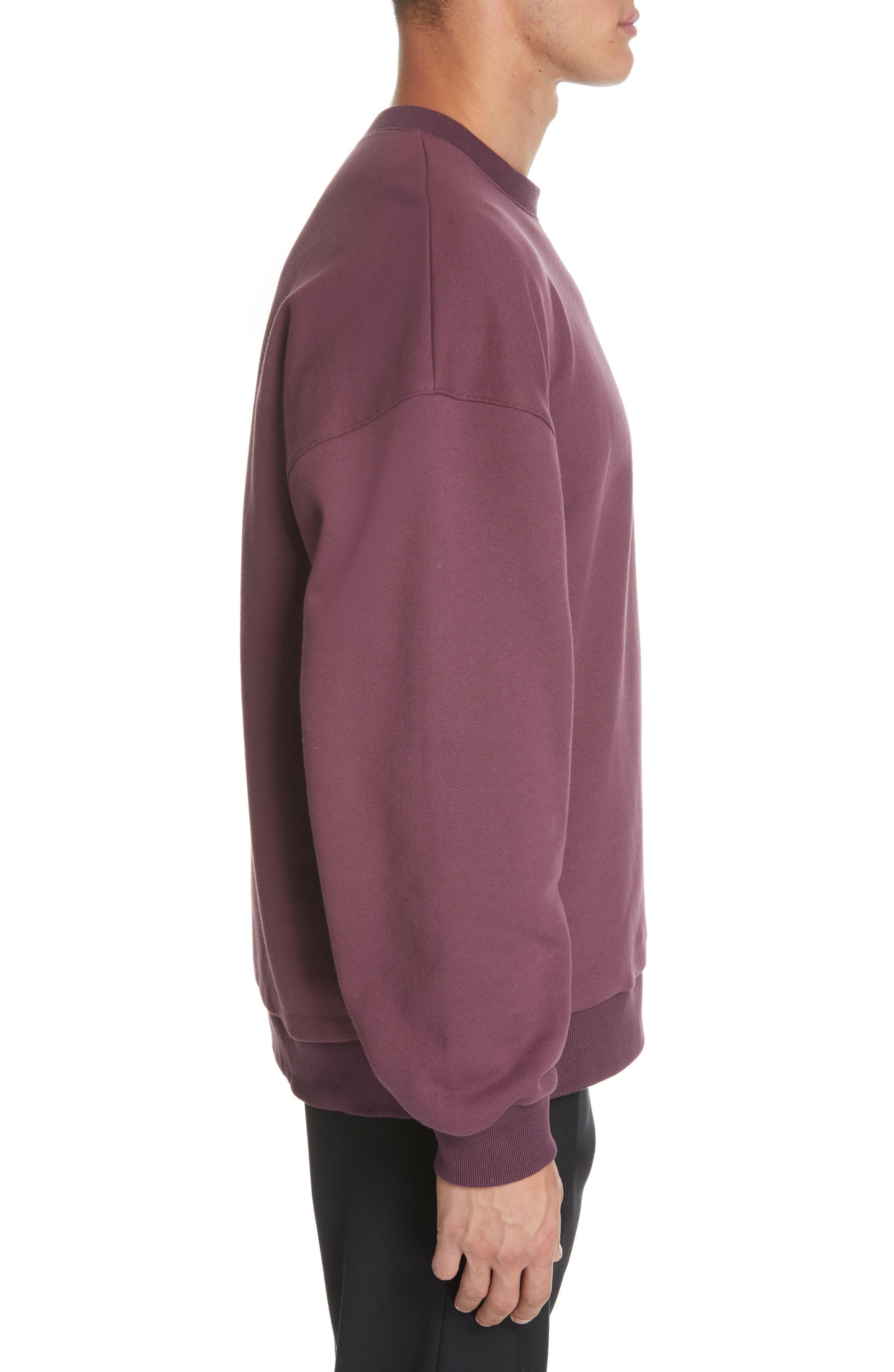 ,                             Oversize Crewneck Sweatshirt,                             Alternate thumbnail 9, color,                             930
