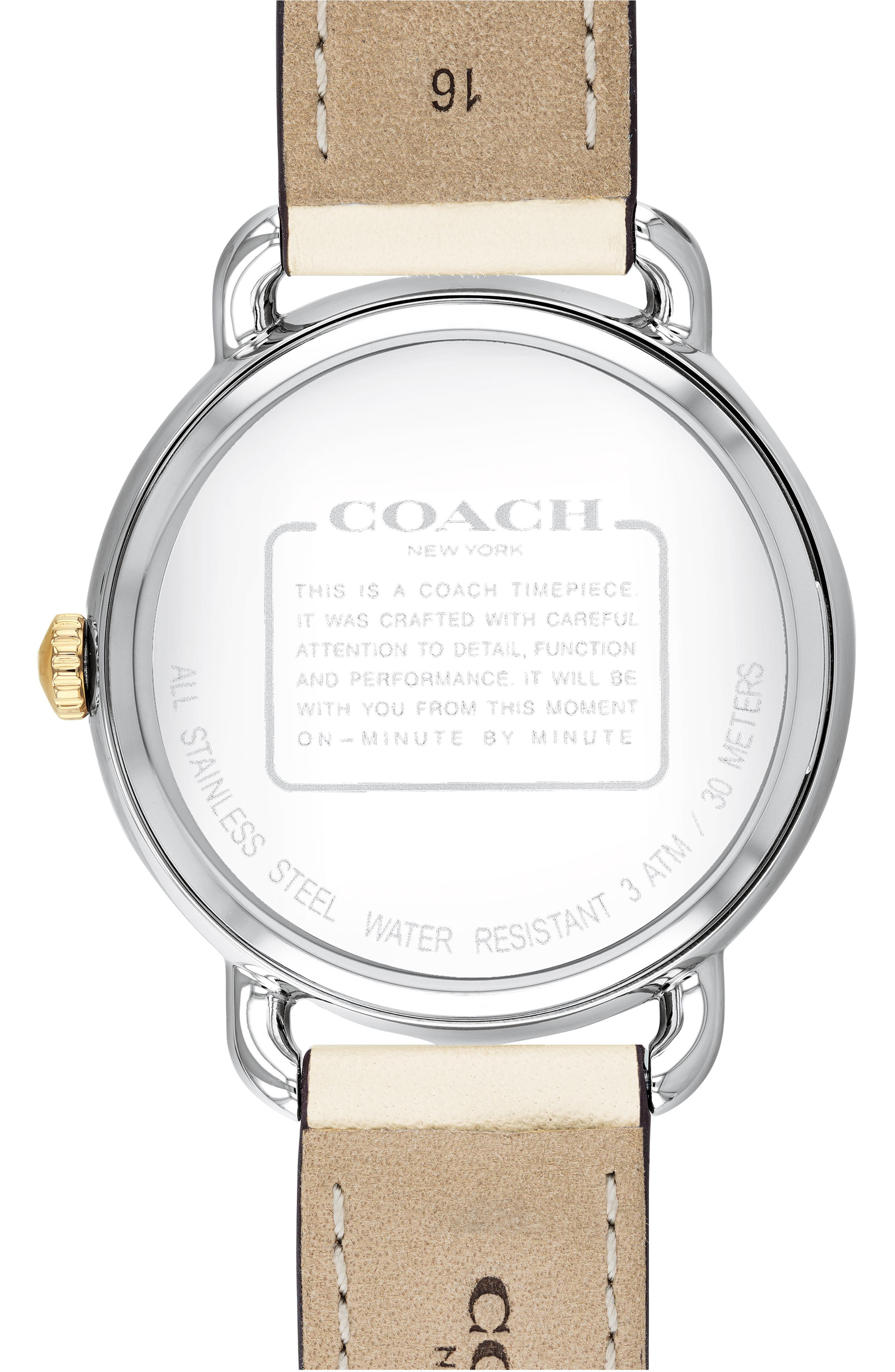 ,                             Delancey Leather Strap Watch, 36mm,                             Alternate thumbnail 2, color,                             CHALK / WHITE/ SILVER
