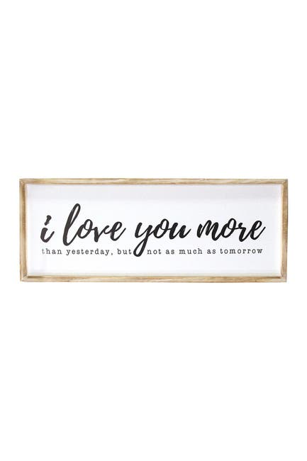 Stratton Home Natural White I Love You More Oversized Wall Art Nordstrom Rack