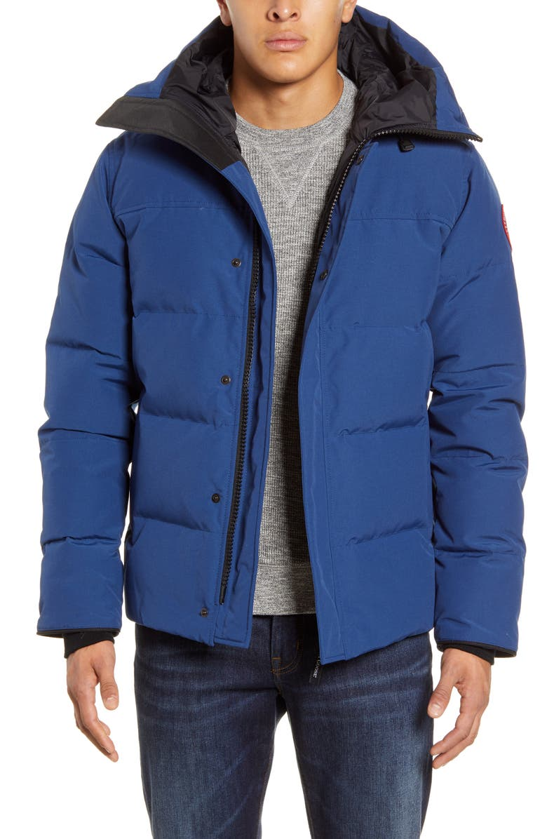 CANADA GOOSE 'MacMillan' Slim Fit Hooded Parka, Main, color, NORTHERN NIGHT