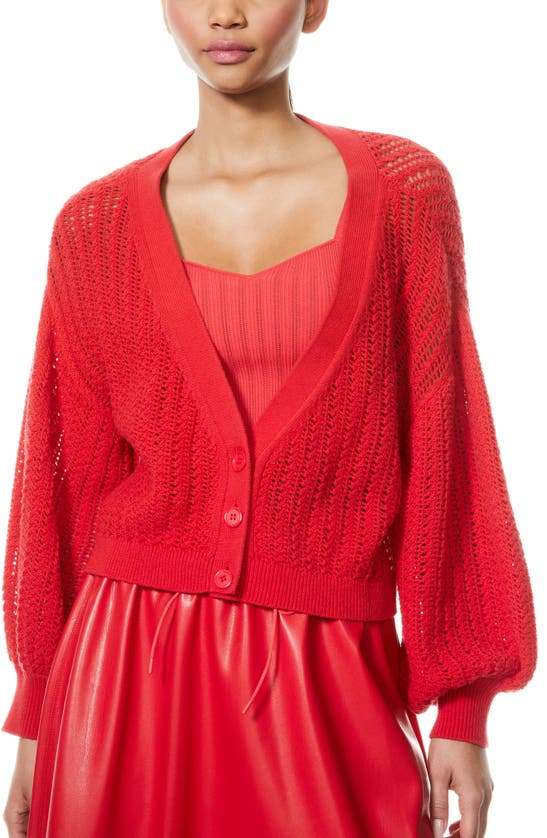 Alice And Olivia Cardigans WINSOR SLOUCHY OPEN WEAVE CARDIGAN