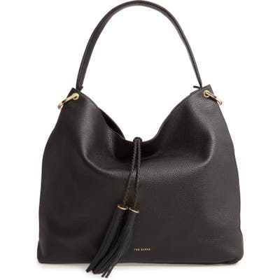 Ted Baker London Demmi Double Tassel Leather Hobo - Black