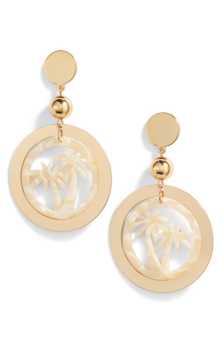 Ettika Palm Tree Hoop Earrings