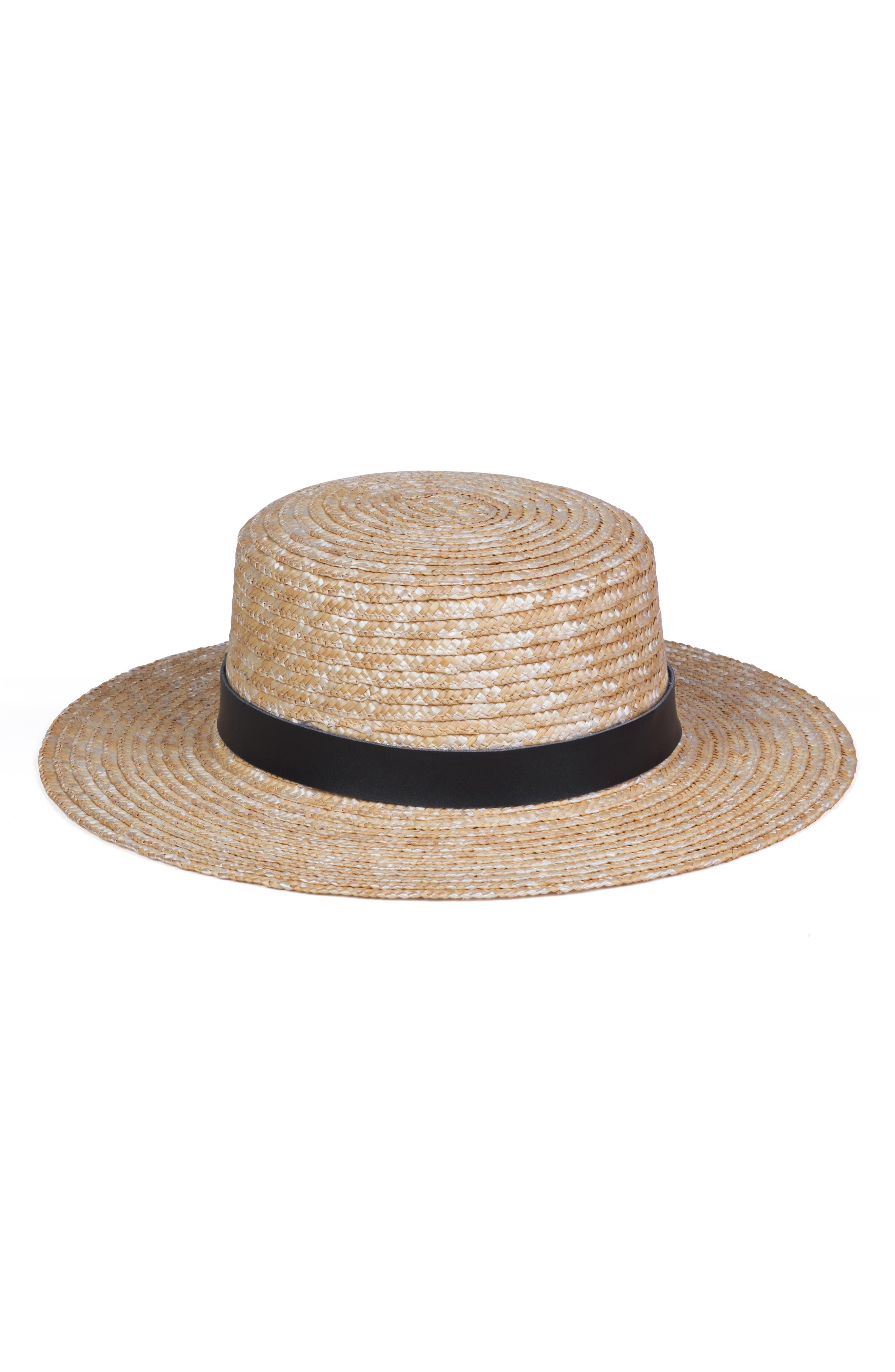 The Spencer Straw Boater Hat