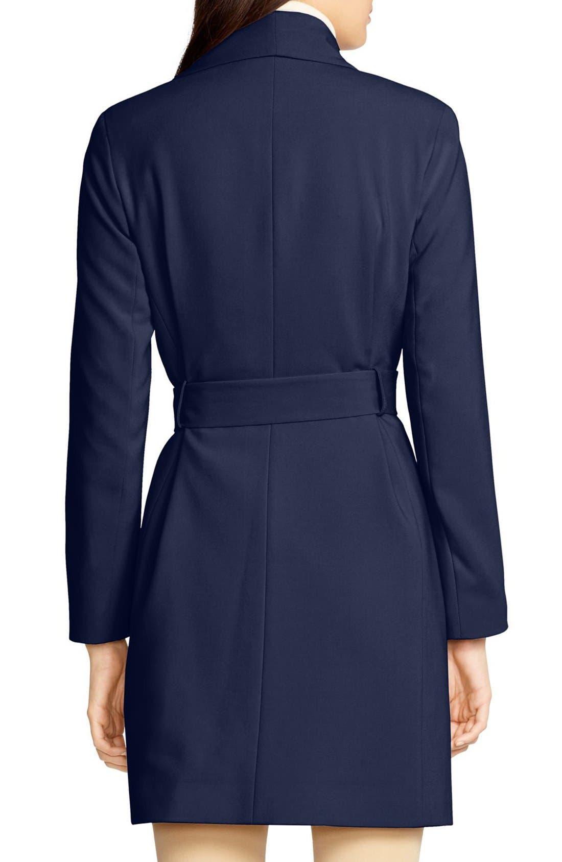 ,                             Belted Drape Front Coat,                             Alternate thumbnail 60, color,                             412