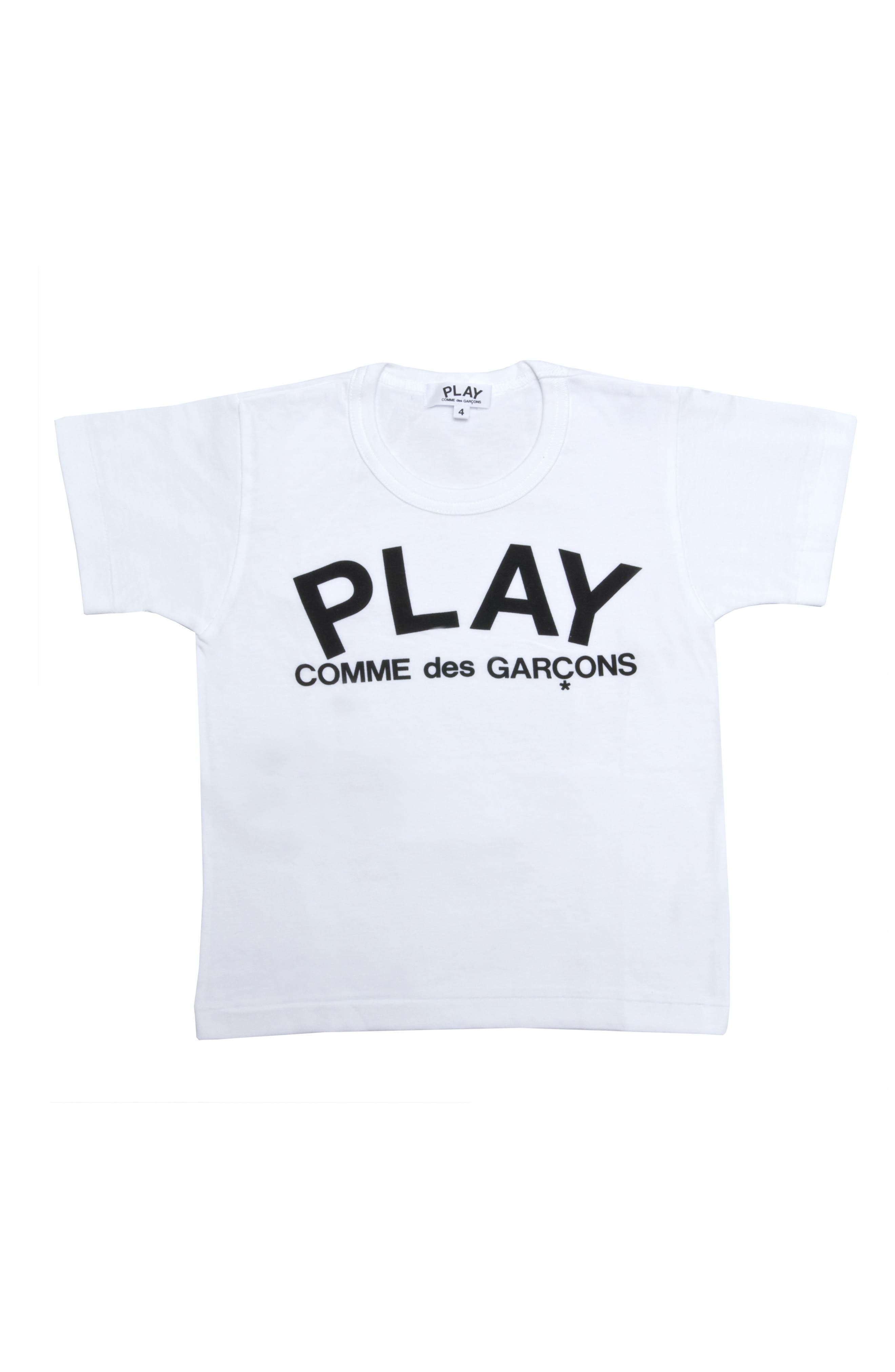 ,                             Logo T-Shirt,                             Main thumbnail 1, color,                             WHITE