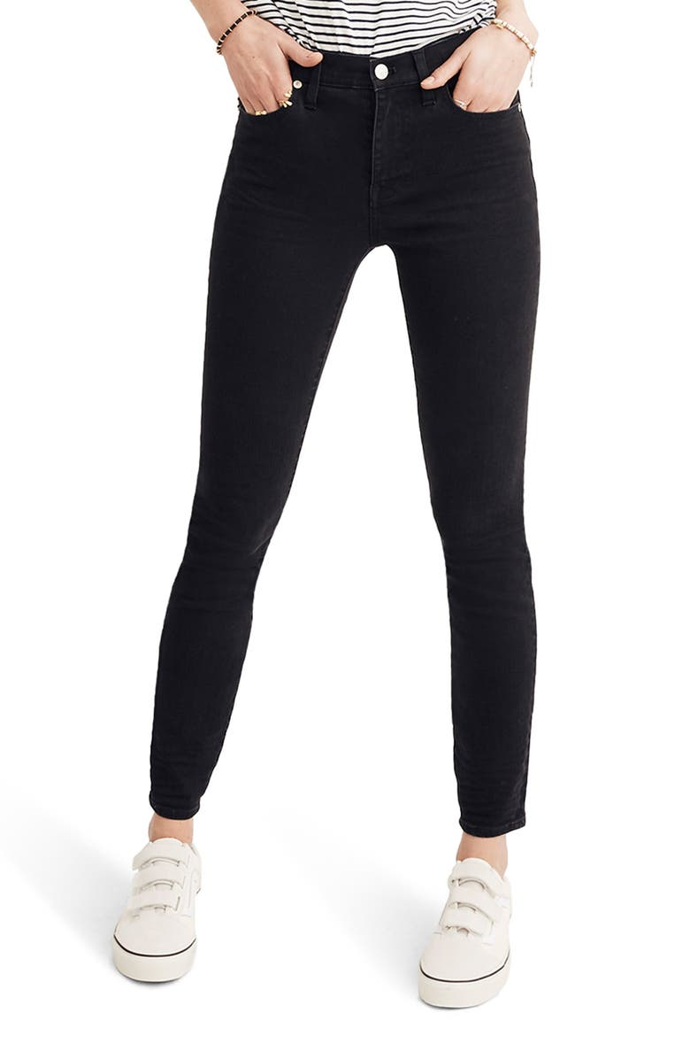 MADEWELL 9-Inch High Rise Skinny Jeans, Main, color, LUNAR