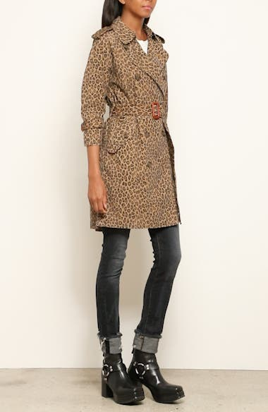 Leopard Raglan Trench Coat, video thumbnail