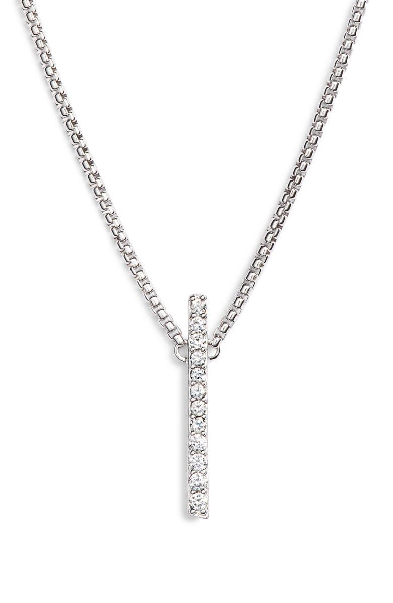 NADRI Ripple Bar Necklace, Main, color, SILVER