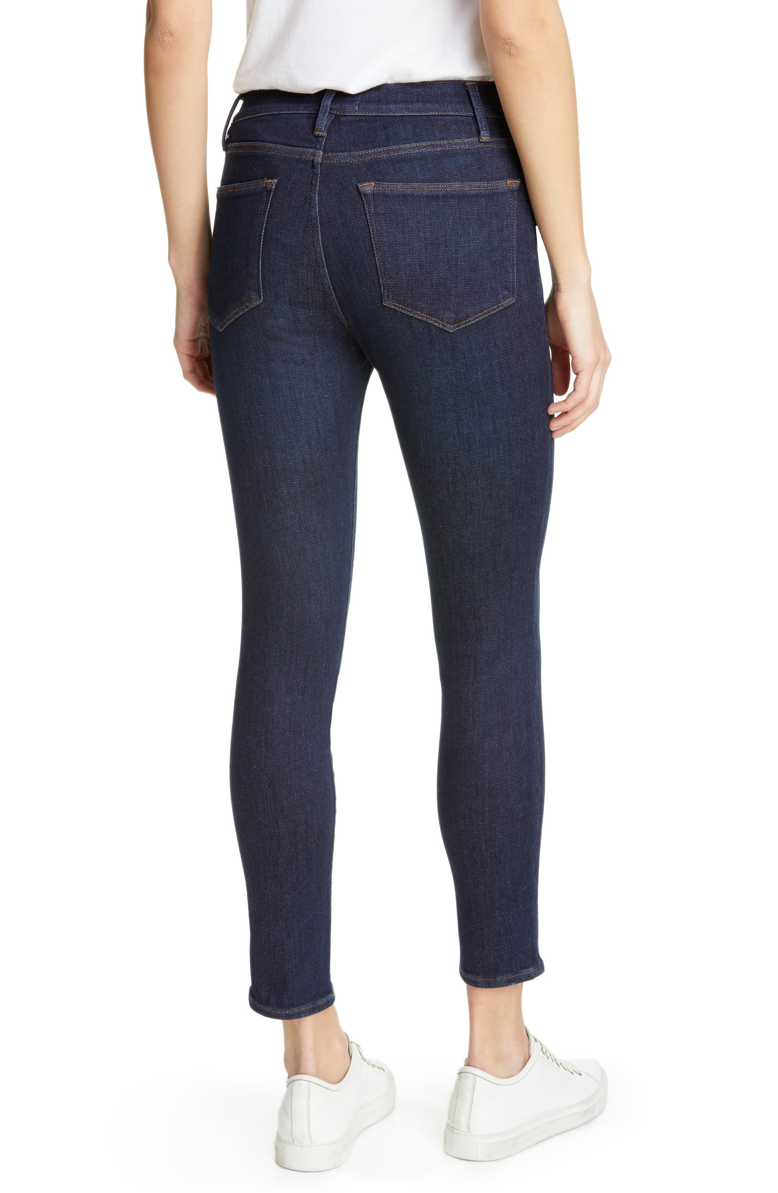 Frame Jeans Le High Waist Crop Skinny Jeans