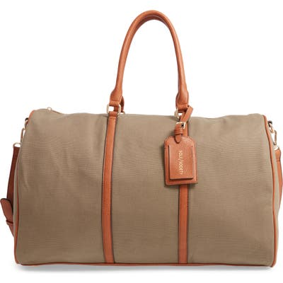 Sole Society Lacie Faux Leather Duffle Bag - Green
