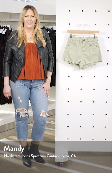 Urban Outfitters High Waist Denim Mom Shorts, sales video thumbnail