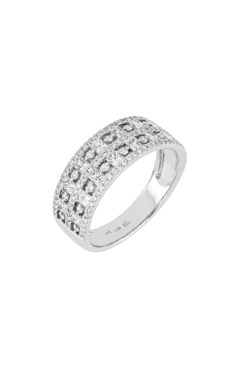 BONY LEVY Diamond Band Ring, Main, color, WHITE GOLD