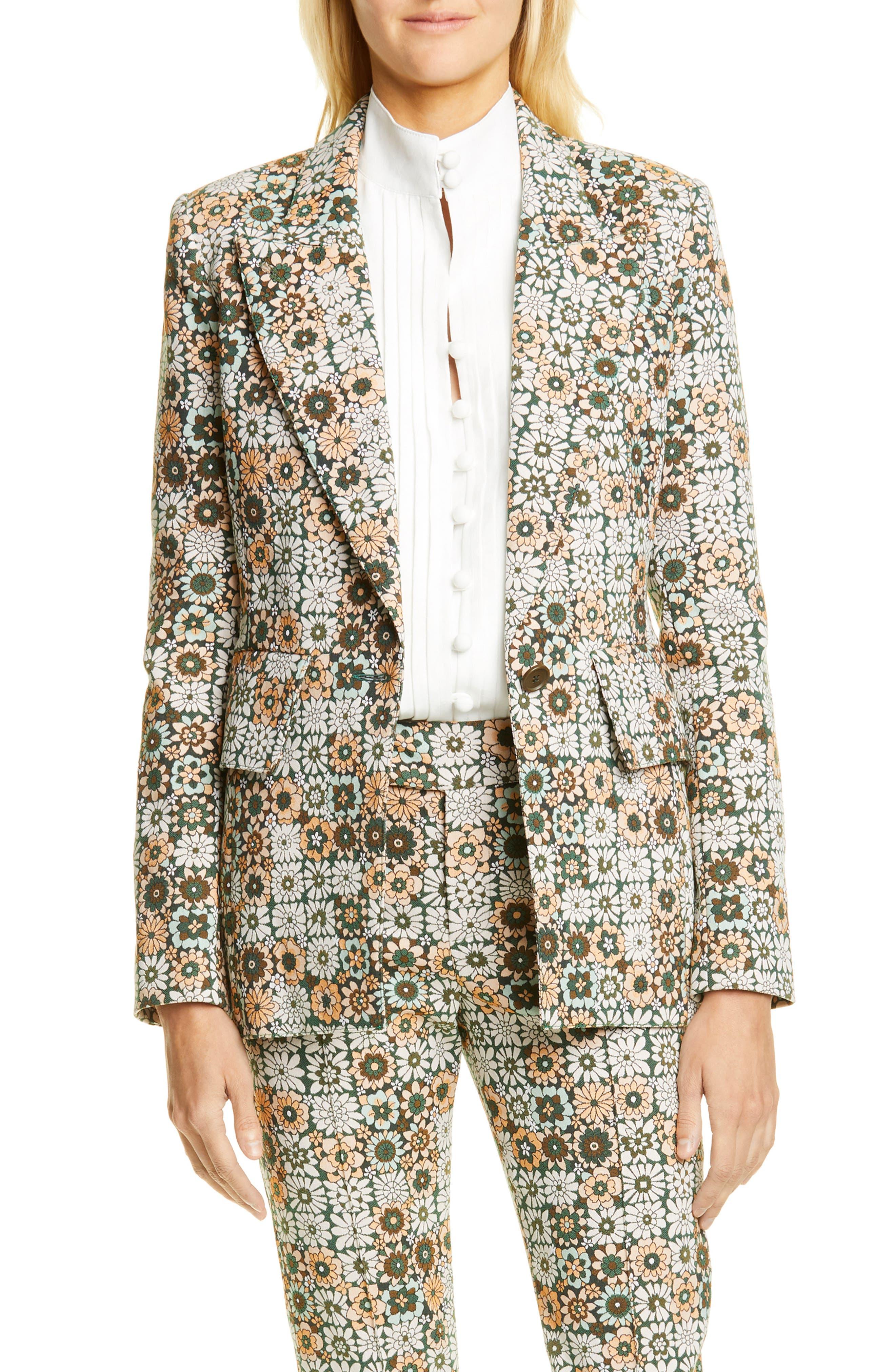 1960s Coats and Jackets Womens Smythe Lounge Blazer $795.00 AT vintagedancer.com