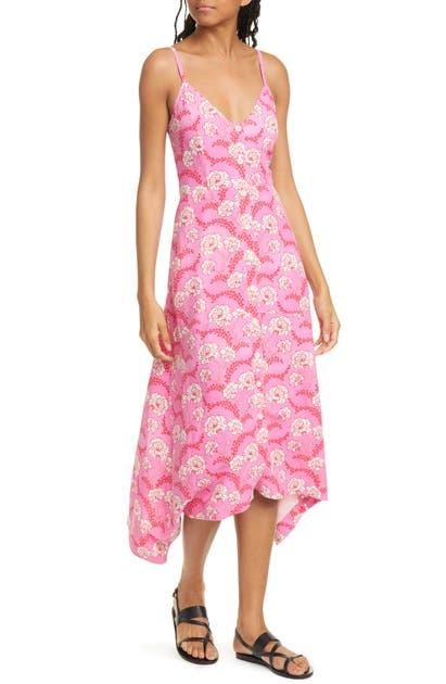 A.l.c Dresses MARISSA SHARK BITE HEM SILK & LINEN DRESS
