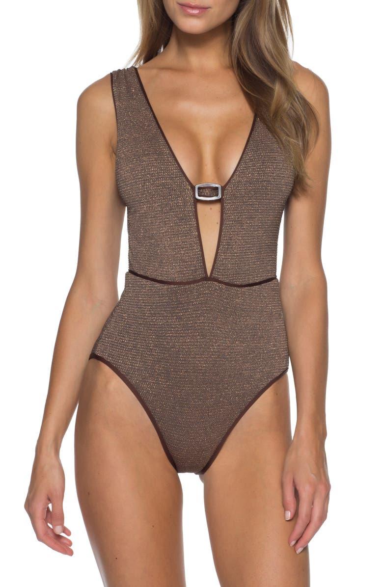 BECCA Disco One-Piece Swimsuit, Main, color, 700