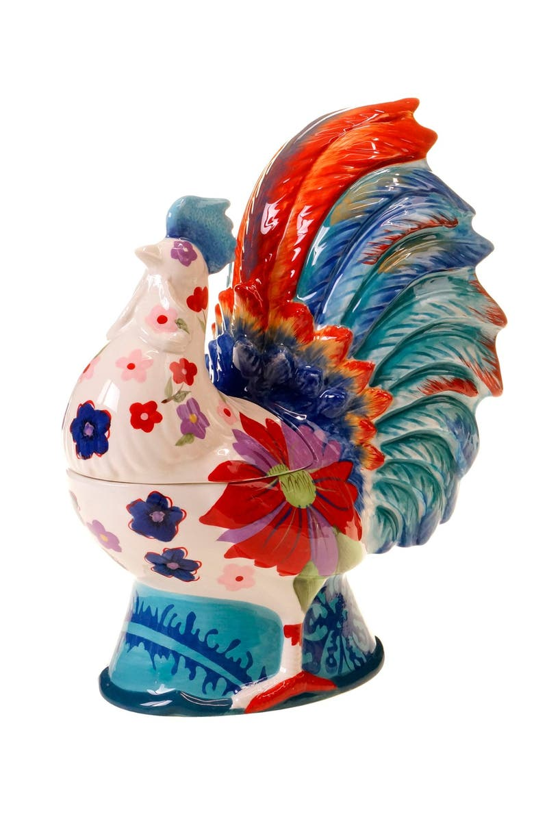 POETIC WANDERLUST Tracy Porter<sup>®</sup> For Poetic Wanderlust<sup>®</sup> '3D Rooster' Cookie Jar, Main, color, Blue