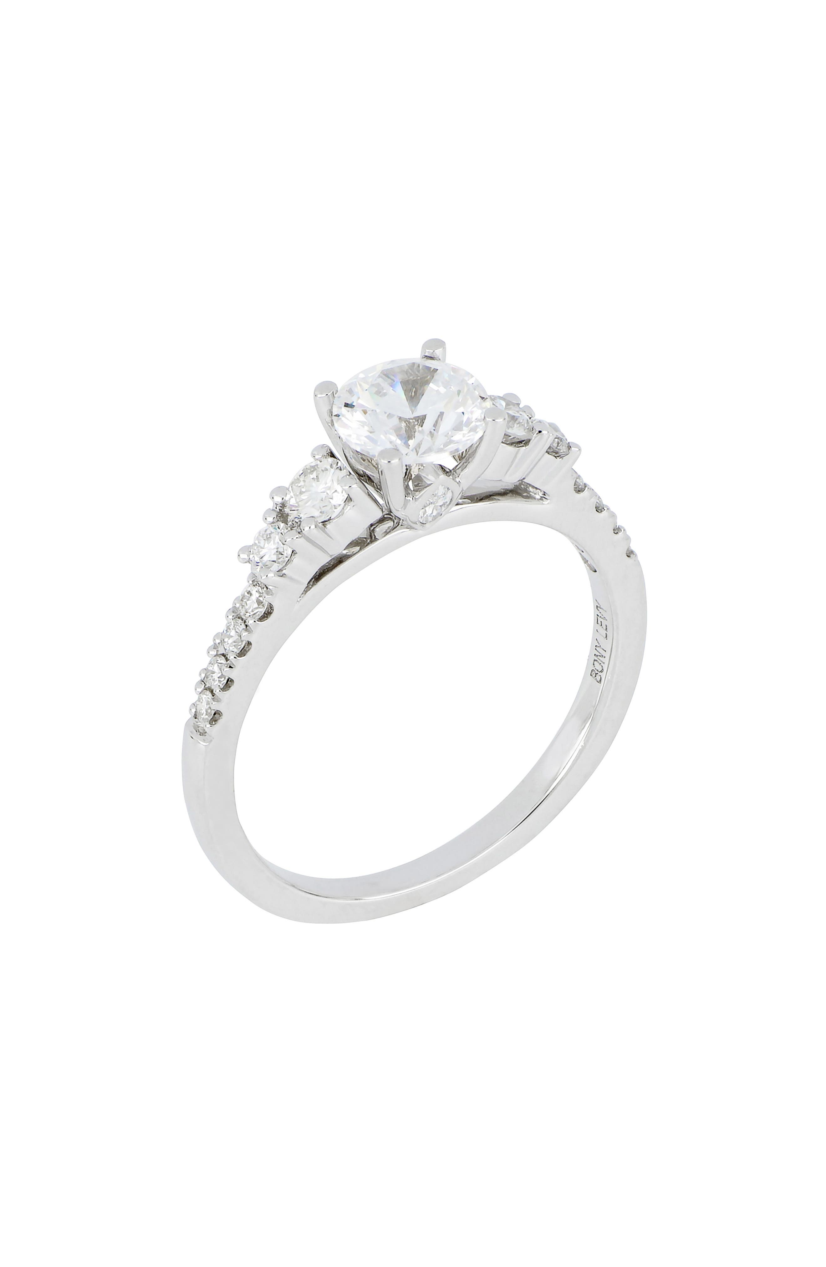 Multi Stone Round Engagement Ring Setting (Nordstrom Exclusive)