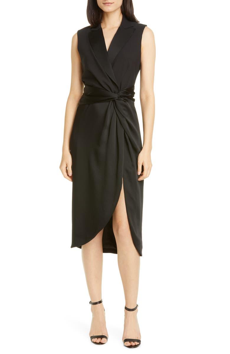 JONATHAN SIMKHAI Twist Waist Dress, Main, color, 001