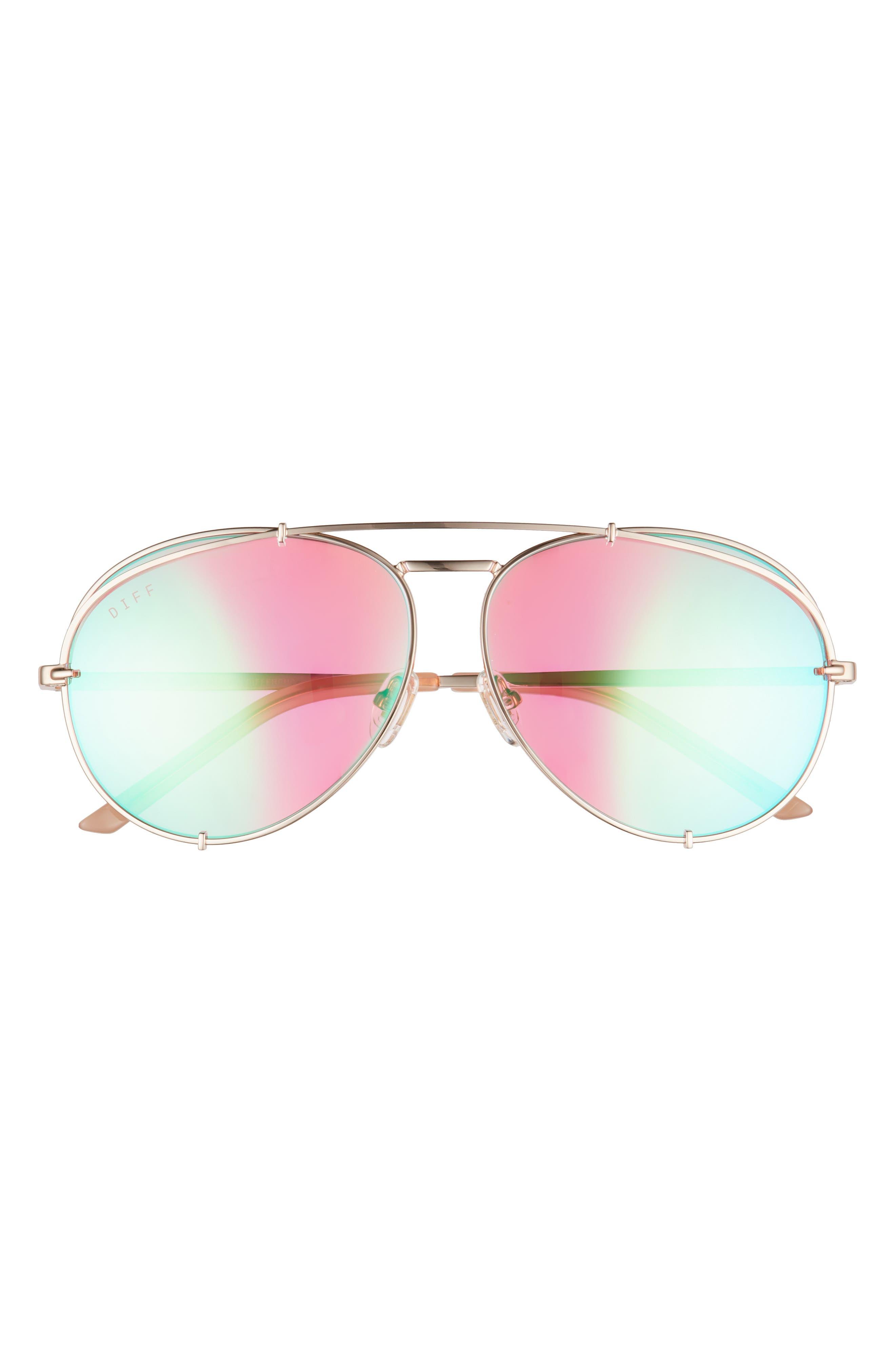 Koko 63mm Oversize Aviator Sunglasses