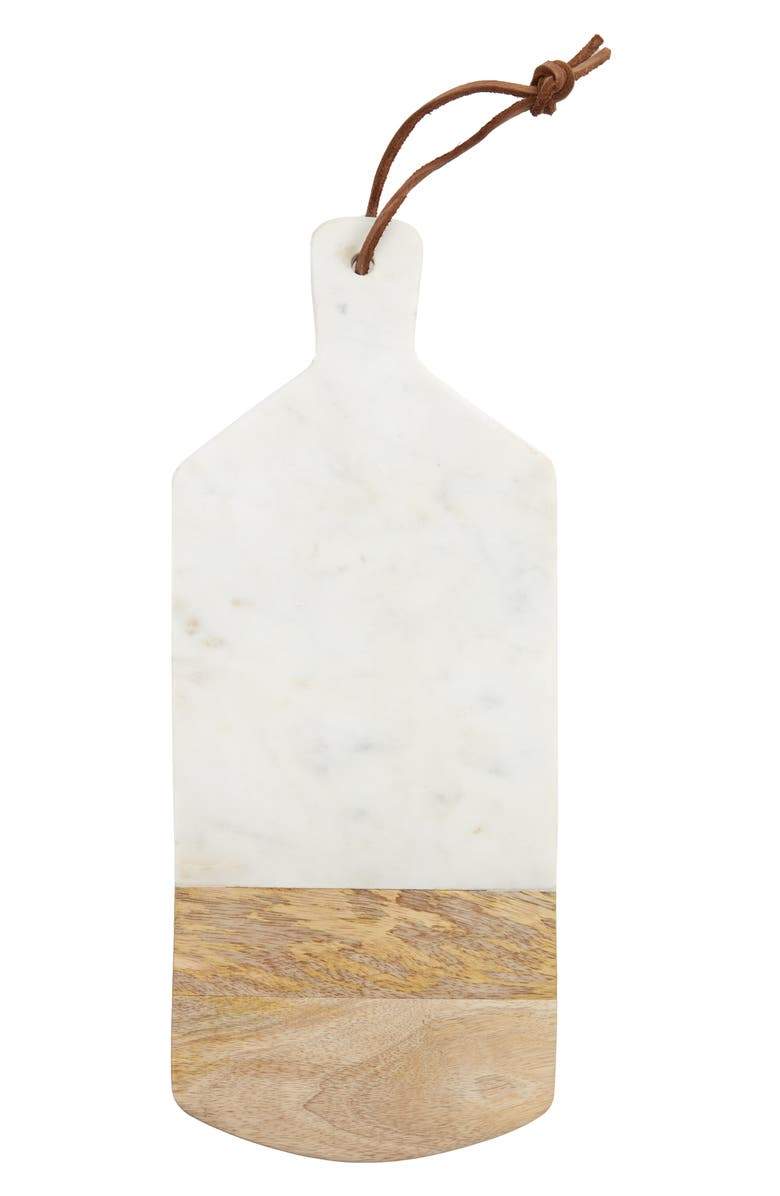 NORDSTROM Marble & Wood Serving Board, Main, color, WHITE MULTI