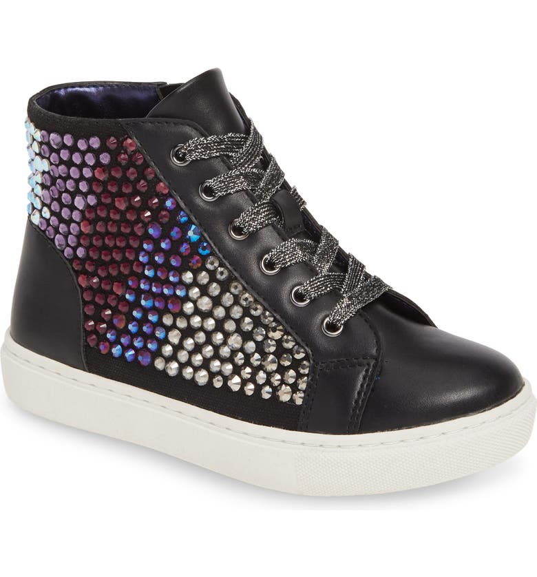 STEVE MADDEN JStarring High Top Sneaker, Main, color, BLACK