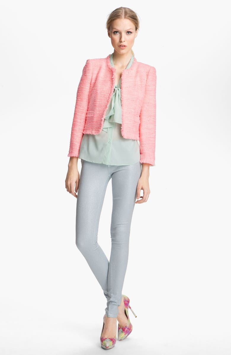 ALICE + OLIVIA Boxy Tweed Jacket, Main, color, 650