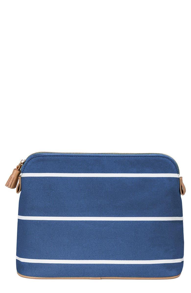 CATHY'S CONCEPTS Monogram Cosmetics Bag, Main, color, BLUE