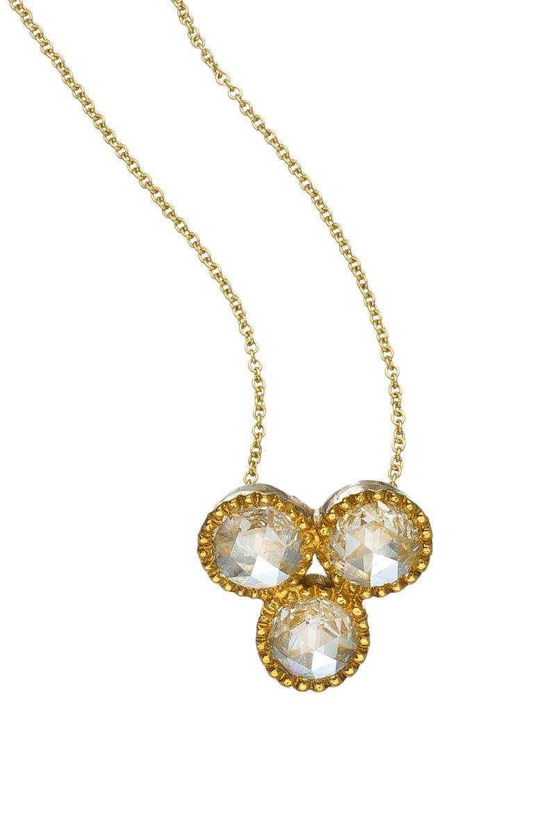 SETHI COUTURE Diamond Pendant Necklace, Main, color, YELLOW