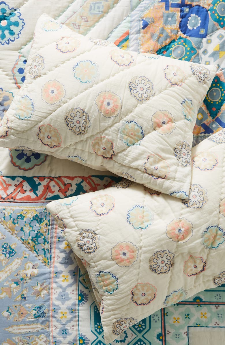 ANTHROPOLOGIE Ponsonby Set of 2 Pillow Shams, Main, color, BLUE