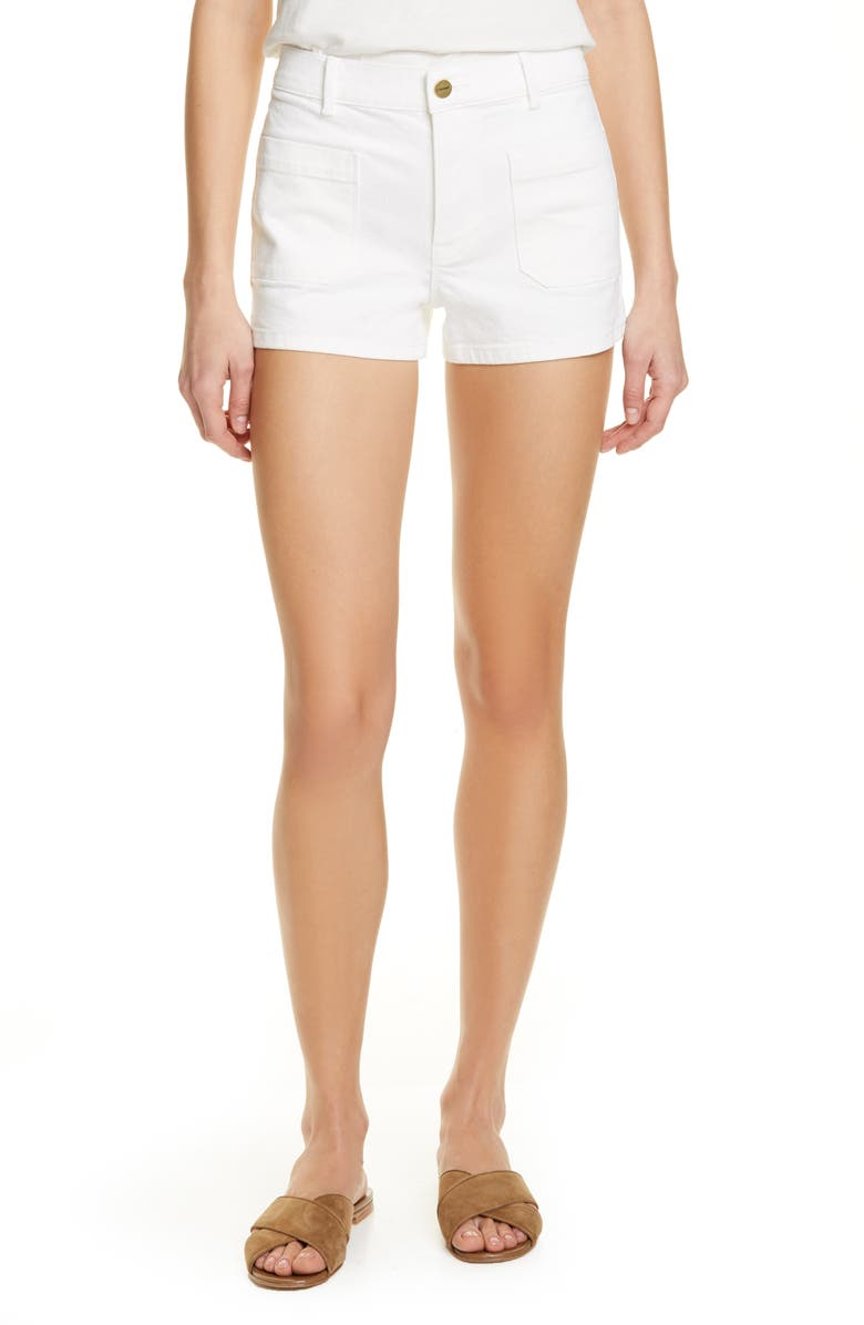 FRAME Le Bardot Denim Shorts, Main, color, 100