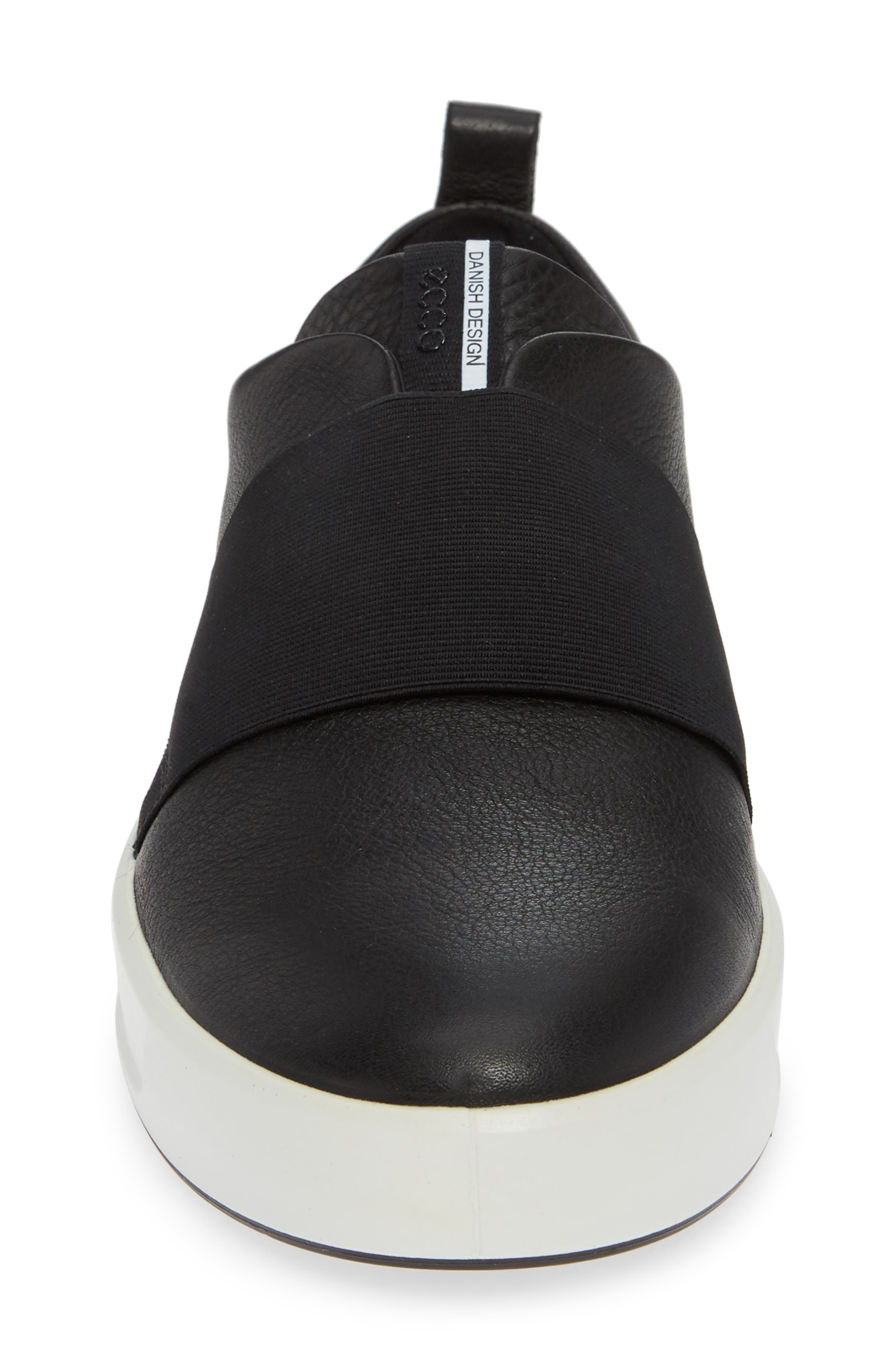 ,                             Soft 8 Band Low Sneaker,                             Alternate thumbnail 4, color,                             BLACK LEATHER