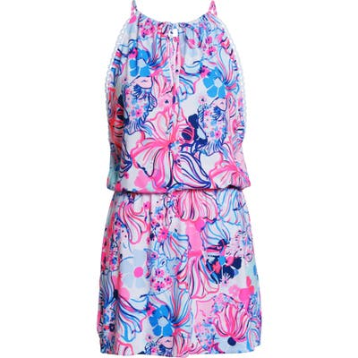 Lilly Pulitzer Gianni Make A Splash Skort Romper, Pink