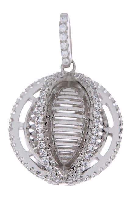 Image of BREUNING Circular Geometric Shaped Crystal Single Pendant