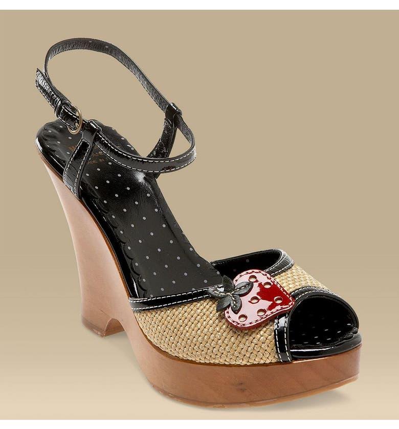 MOSCHINO Cheap & Chic Strawberry Sandal, Main, color, NBK
