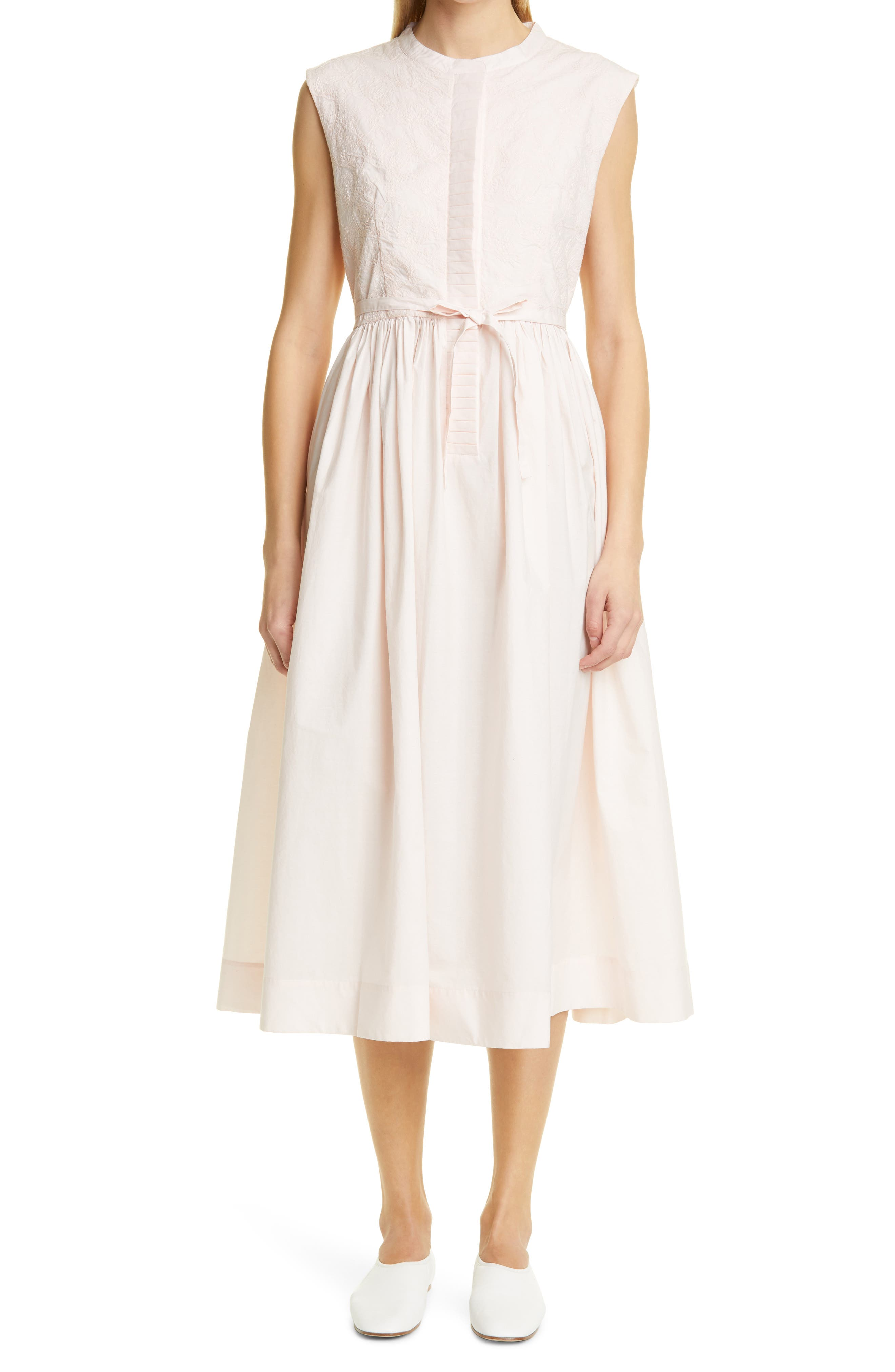 Maya Button Front Sleeveless Dress