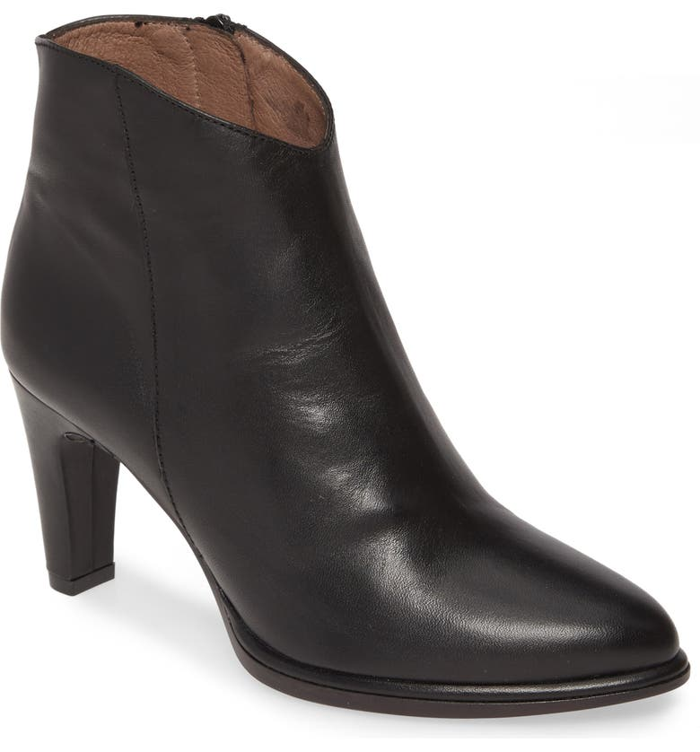 WONDERS M-2623 Bootie, Main, color, BLACK SMOOTH LEATHER
