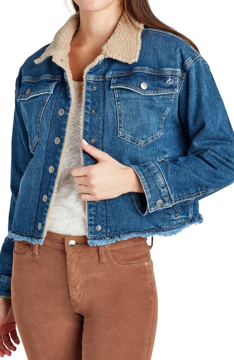 SAM EDELMAN Bella Fleece Lined Denim Jacket, Main, color, WYLDE