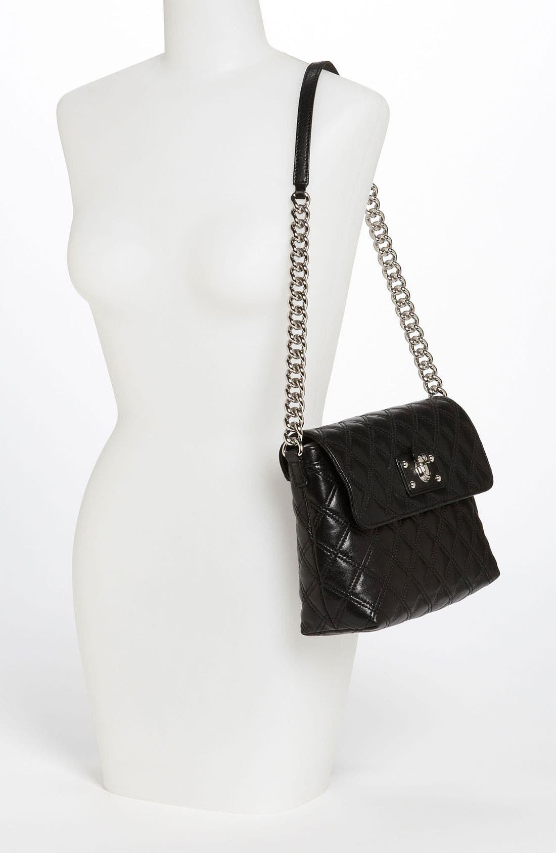 ,                             'Large Quilting Single' Leather Shoulder Bag,                             Alternate thumbnail 7, color,                             003