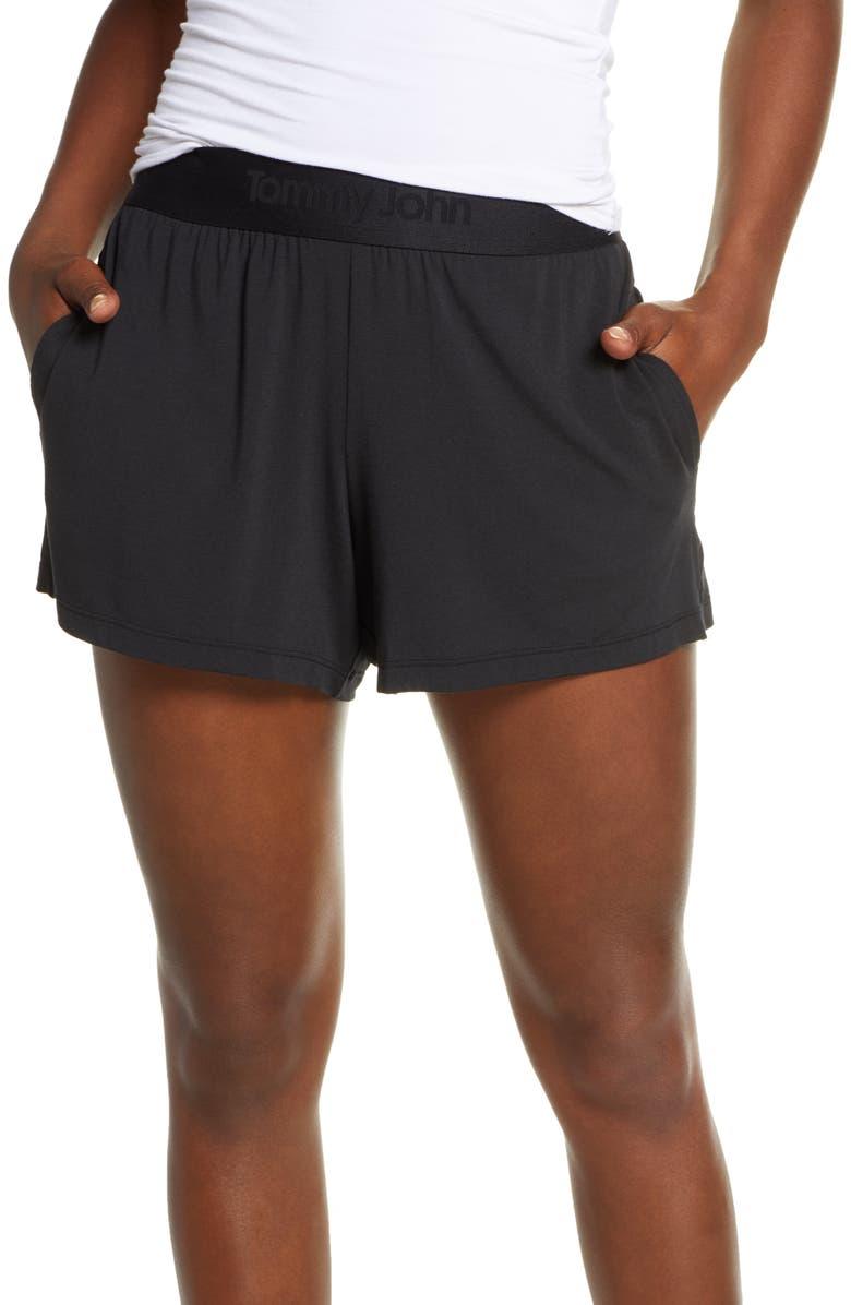 TOMMY JOHN Pajama Shorts, Main, color, BLACK