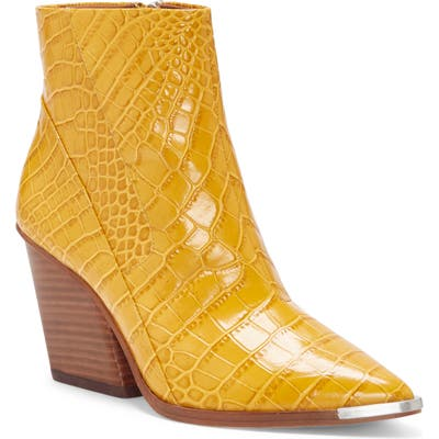 Vince Camuto Anikah Pointy Toe Bootie, Yellow