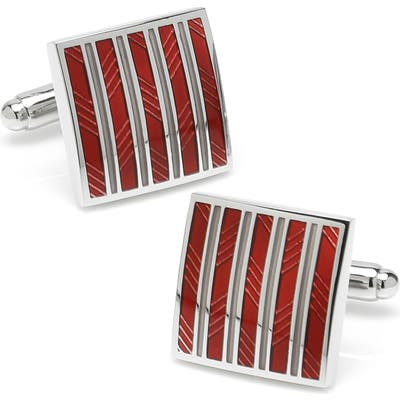 Cufflinks, Inc. Stripe Square Cuff Links