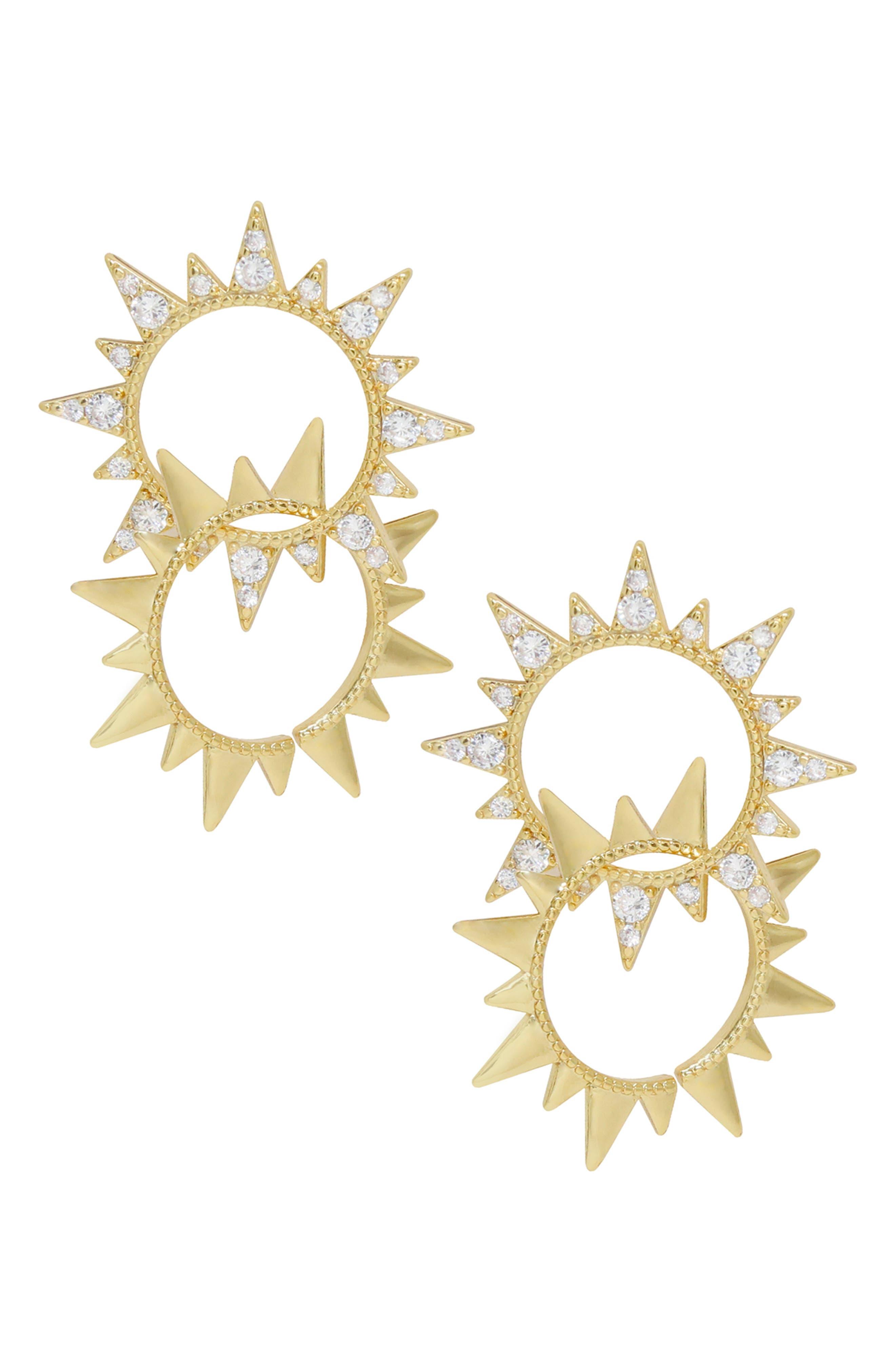 Double Sunburst Earrings