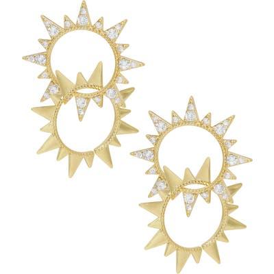 Ettika Double Sunburst Earrings