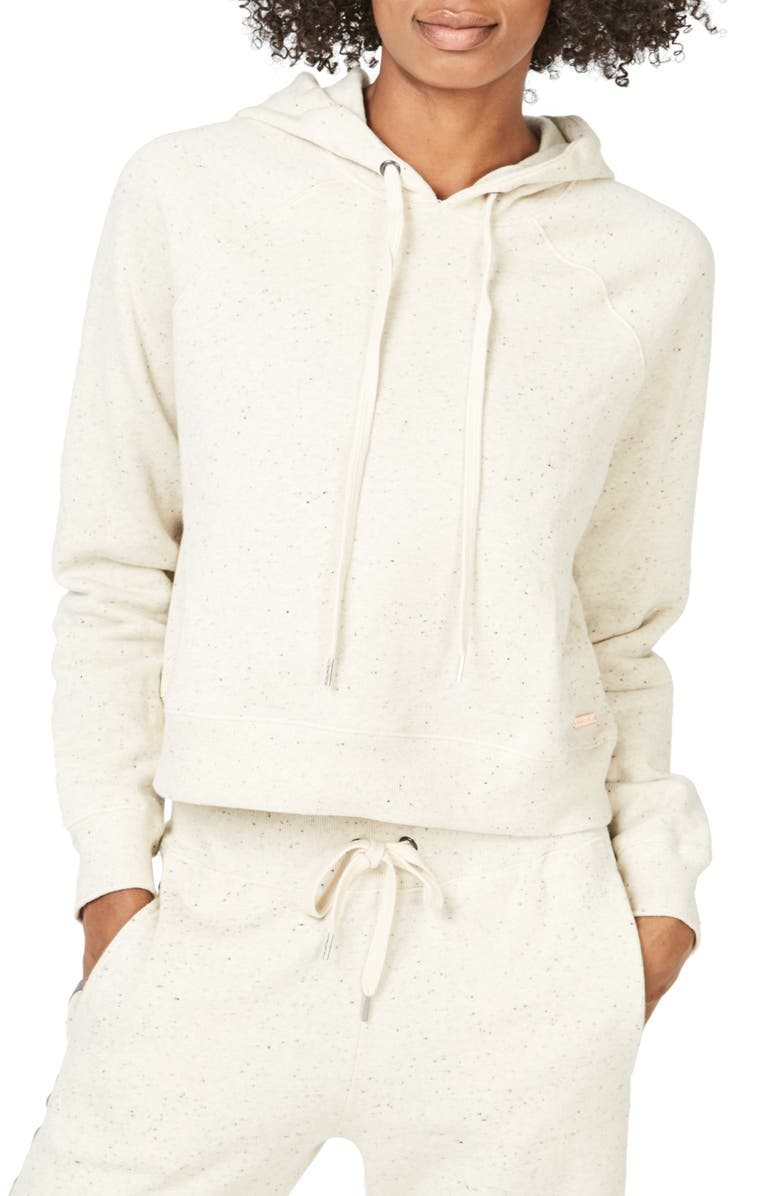 SWEATY BETTY Liberate Crop Hoodie, Main, color, OFF WHITE