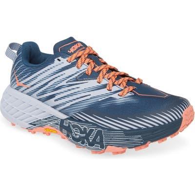 Hoka One One Speedgoat 4 Trail Running Shoe- Blue