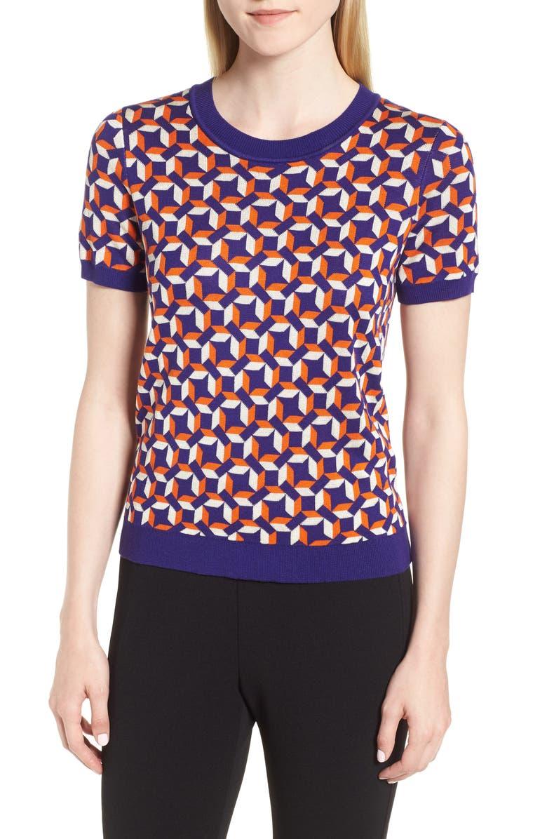 BOSS Felisabeth Sweater, Main, color, DEEP LILAC FANTASY
