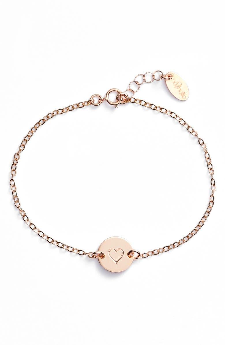 NASHELLE Mini Coin Bracelet, Main, color, ROSE GOLD